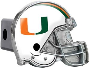 NCAA Miami Hurricanes Helmet Trailer Hitch Cover
