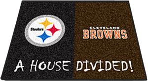 Fan Mats Steelers-Browns House Divided Mat