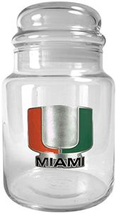 NCAA Miami Hurricanes Glass Candy Jar