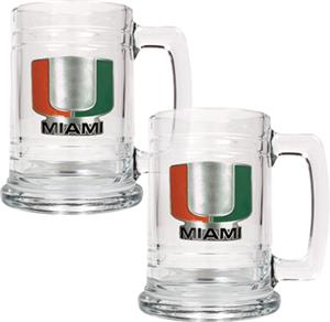 NCAA Miami Hurricanes 15oz Glass Tankard