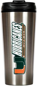 NCAA Miami Hurricanes 16oz Travel Tumbler