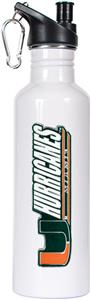 NCAA Miami Hurricanes White Water Bottle