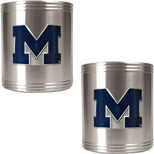 NCAA Michigan Stainless Steel Can Holders