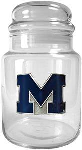 NCAA Michigan Wolverines Glass Candy Jar