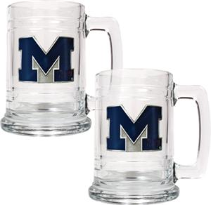 NCAA Michigan Wolverines 15oz Glass Tankard