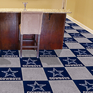 Fan Mats NFL Dallas Cowboys Carpet Tiles
