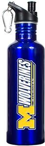 NCAA Michigan Wolverines Blue Water Bottle