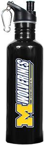 NCAA Michigan Wolverines Black Water Bottle