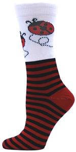 Red Lion Ms. Bug Ladybug  Athletic Crew Socks