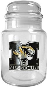 NCAA Missouri Tigers Glass Candy Jar