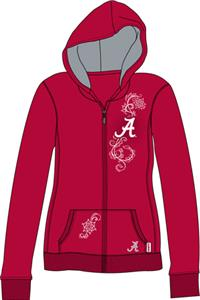 Alabama Univ Womens French Terry Zip Hoody