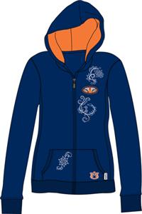 Auburn Tigers Womens French Terry Zip Hoody