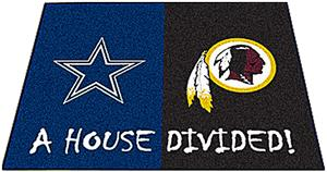 Fan Mats Cowboys-Redskins House Divided Mat