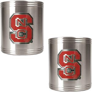 NCAA N.C. State Stainless Steel Can Holders