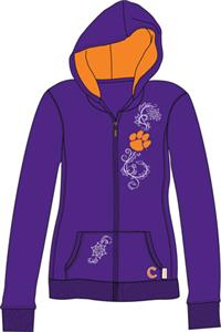 Clemson Tigers Womens French Terry Zip Hoody