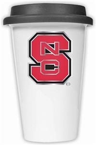 NCAA N.C. State Ceramic Cup w/Black Lid