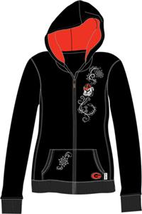 Georgia Bulldogs Womens French Terry Zip Hoody