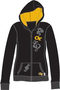 Georgia Tech Womens French Terry Zip Hoody