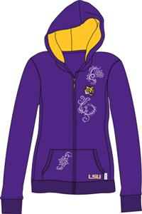 LSU Tigers Womens French Terry Zip Hoody