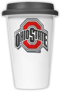 NCAA Ohio State Buckeyes Ceramic Cup w/Black Lid