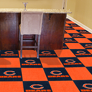 Fan Mats NFL Chicago Bears Carpet Tiles