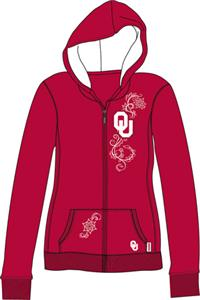 Oklahoma Sooners Womens French Terry Zip Hoody