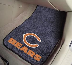 Fan Mats Chicago Bears Carpet Car Mats
