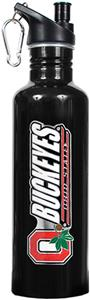 NCAA Ohio State Buckeyes Black Water Bottle