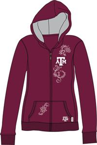 Texas A&M Aggies Womens French Terry Zip Hoody