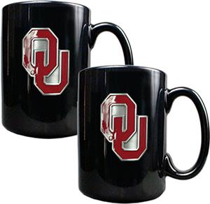 NCAA Oklahoma Sooners Ceramic Mug (Set of 2)