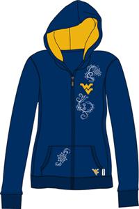 West Virginia Womens French Terry Zip Hoody