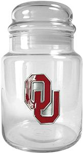 NCAA Oklahoma Sooners Glass Candy Jar