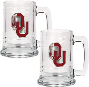 NCAA Oklahoma Sooners 15oz Glass Tankard