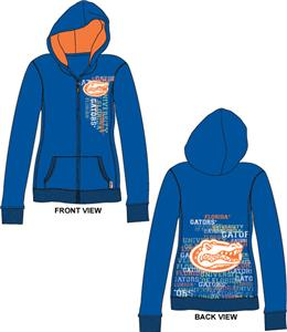 Florida Gators Womens Flocked Zip Hoody