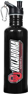 NCAA Oklahoma Sooners Black Water Bottle