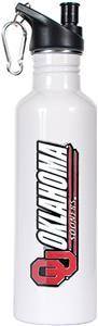 NCAA Oklahoma Sooners White Water Bottle