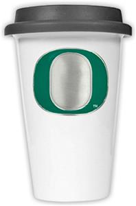 NCAA Oregon Ducks Ceramic Cup w/Black Lid