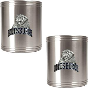 NCAA Pittsburgh Stainless Steel Can Holders