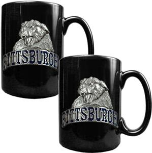 NCAA Pittsburgh Panthers Ceramic Mug (Set of 2)