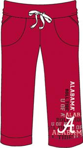 Alabama Univ Womens Flocked Drawstring Pants