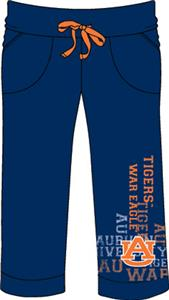 Auburn Tigers Womens Flocked Drawstring Pants