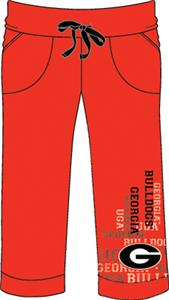 Georgia Bulldogs Womens Flocked Drawstring Pants