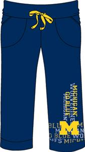 Michigan Womens Flocked Drawstring Pants