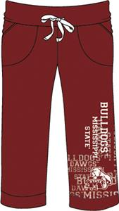 Mississippi State Womens Flocked Drawstring Pants