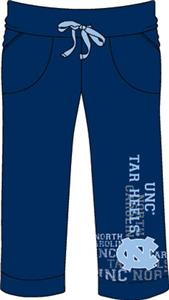 North Carolina Womens Flocked Drawstring Pants