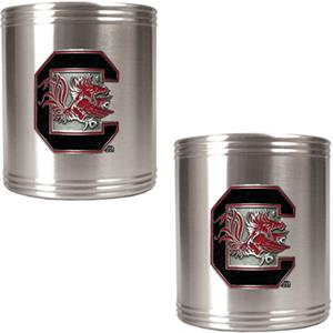 NCAA South Carolina Stainless Steel Can Holders