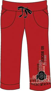 Ohio State Buckeyes Womens Flocked Drawstring Pant