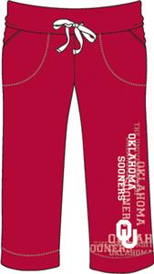 Oklahoma Sooners Womens Flocked Drawstring Pants