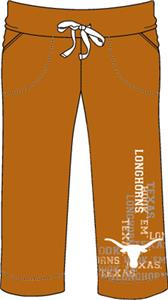 Texas Longhorns Womens Flocked Drawstring Pants