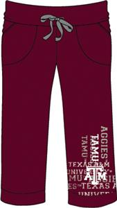 Texas A&M Aggies Womens Flocked Drawstring Pants